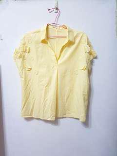 🚚 [售/換] CHICA 專櫃品牌 V領 縲縈襯衫