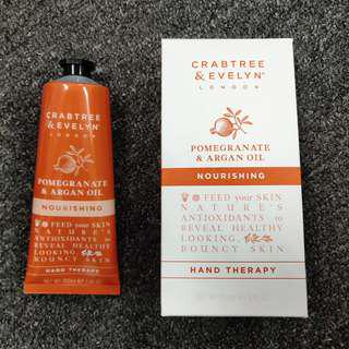 Crabtree & Evelyn London Pomegranate & Argan Oil Nourishing Hand Therapy