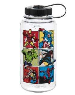 🚚 Nalgene 1l wide mouth Water Bottle Marvel Series