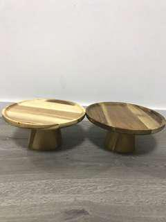 Wooden Cake Stand (Rent)