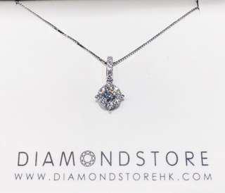 簡約18K 白金鑽石吊墜✨ 送禮🎁自用🎀都很大方得體
