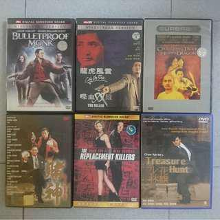 Replacement Killers/ Bulletproof Monk/ City on Fire/ The Killer/ Crouching Tiger/ God of Gamblers/ Treasure Hunt