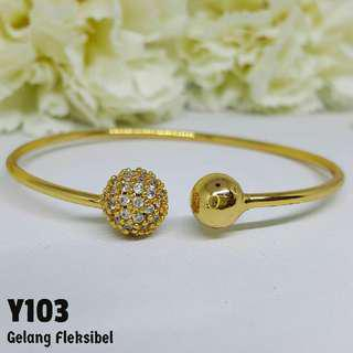 Gelang Perhiasan Imitasi Berlian Lapis Emas Xuping