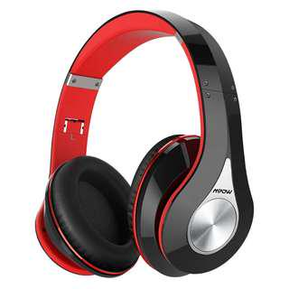 Mpow Bluetooth Headphones Over Ear, Hi-Fi Stereo Wireless Headset, Foldable, Soft Memory-Protein Earmuffs, w/Built-in Mic and Wired Mode