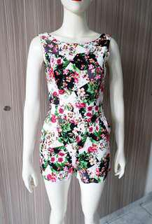 Summer Floral Jumpsuit / Jumpsuit Bunga