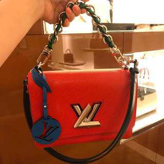 Louis Vuitton Twist EPI Leather MM Braided (Red)