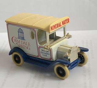 Small vintage model car, Business for CWM Dale Spring Mineral Water of Wells Drink Limited, Made by Days Gone, England.