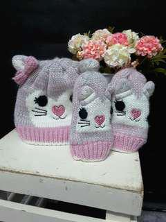 Snow cap n gloves-mothercare