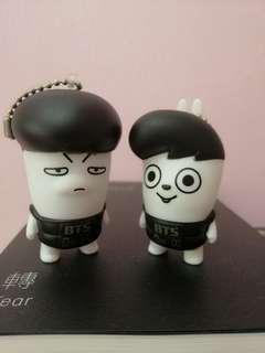 BTS Hip Hop Monster Keychain Figurine