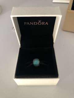 Pandora Teal Pave Ball