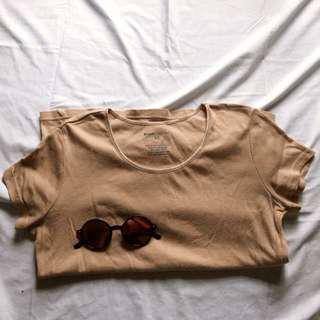 Basic editions beige top