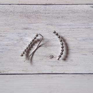 🚚 純銀連珠耳環