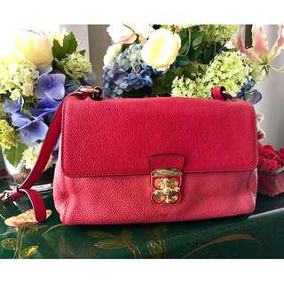 Lovcat leather red bag