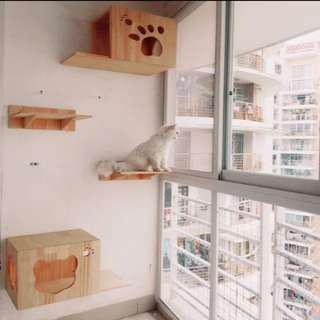 (New!) wall cat house platform set