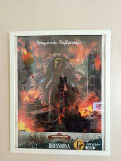 [PRICE LOWERED] One Piece Doflamingo Poster + Frame
