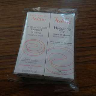 Avene soothing moisture mask & dehydrating serum