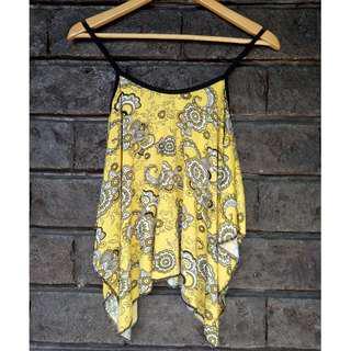 Yellow Spaghetti Strap | Paisley | Printed | Casual | Inner | Summer