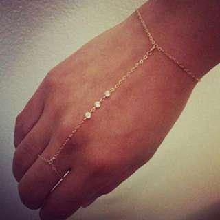 FREE SHIPPING Hand Chain with Rhinestones