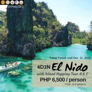 4D3N El Nido with Island Hopping Tour A and C