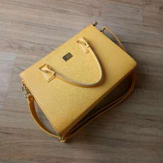Mustard yellow bag