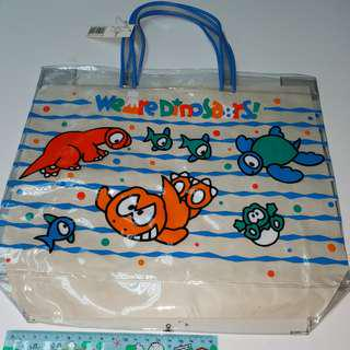sanrio 恐龍 手提袋 透明 防水