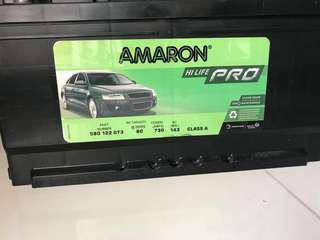 Amaron PRO Car Battery 80AH 730AMP Din 80 Size - Almost Brand New (2 months)