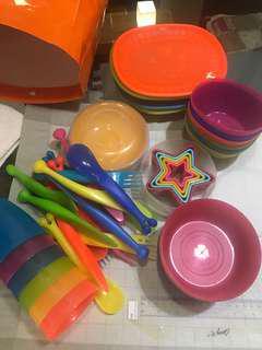 Ikea kid cutlery and plate