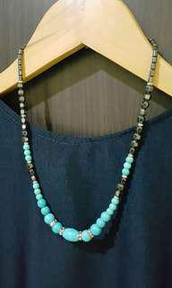 Black & Turquoise Beads Necklace