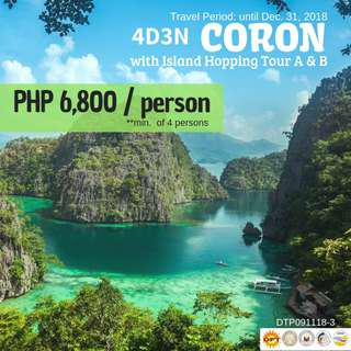 4D3N Coron with Island Hopping Tour A and B