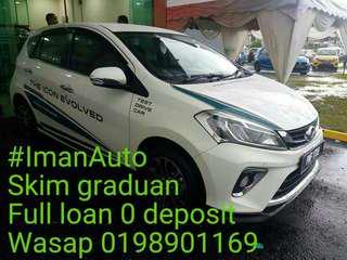 Perodua baru 0 deposit full loan, skim graduan baru keje pun boleh apply