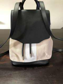 Rag and Bone leather canvas backpack
