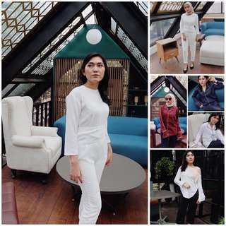 Take all 3pcs 100rb (jumpsuit, off shoulder / sabrina top, pajamas street style)
