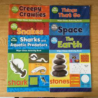 My First Series - Space, Earth, Things that Go, Creepy Crawlies, Snakes, Sharks and Aquatic Predators