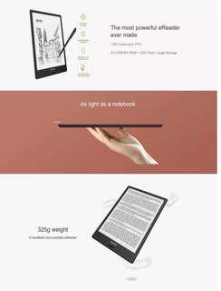 "Ebook 32GB/2G 10.3""  E Ink built-in Mic, WIFI and Bluetooth"