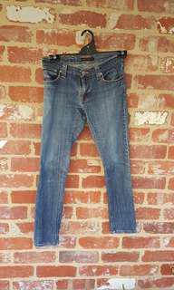 Nudie Jeans Tight Long John Blue Skinny Jeans Womens 29/34 Italian Made