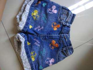Mickey mouse short pants