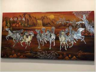 🔥 Moving Out Sale🔥Mother of Pearl on Rosewood - Eight Galloping Horses 八骏马