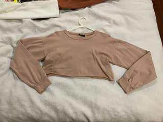 Baby pink cropped jumper