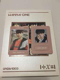 WTT WANNA ONE UNDIVIDED PC AND MAGNET