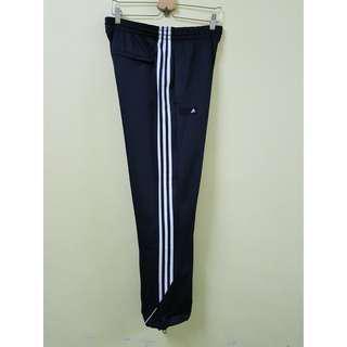 Adidas 3-Stripes Black Track Pants, L. (Original)