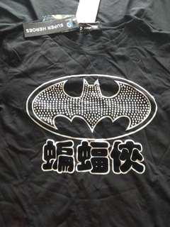 Batman diamond studded medium long sleeve tee