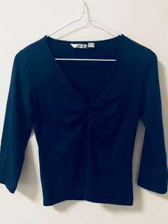 MNG MANGO Navy Blue Top Size S