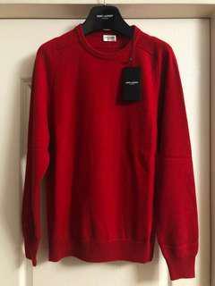 全新saint Laurent Paris cashmere knit new Sz L( 原價$8250)
