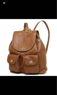 Coach Billie Brown Leather Backpack