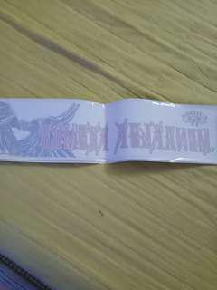 Sticker kereta WINGS - menakluk kosmos