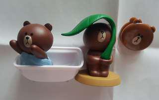 Line friends brown 熊大 扭蛋 包平郵