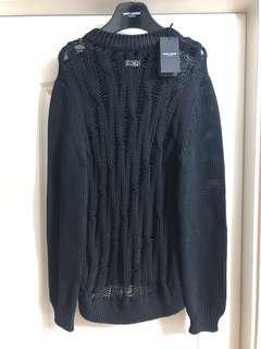 全新saint Laurent Paris destroy knit new Sz L ( 原價$5900)