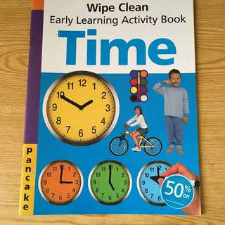 Early Learning Activity Book - Time