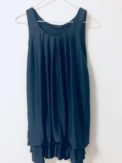 SIANEDER Designer Dress in Dark Grey Blue