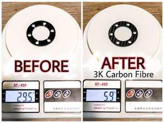 Save 46.6G! Full 3K Carbon Fibre Spacer
